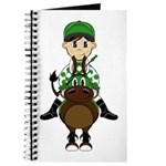 Cute Jockey and Horse Journal
