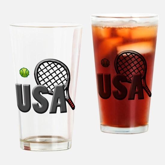USA Tennis (2) Drinking Glass