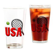 USA Tennis(3) Drinking Glass