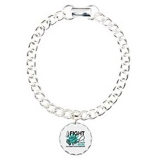 Fight Like a Girl For My Ovarian Cancer Charm Brac