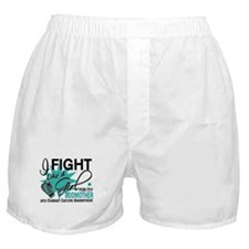 Fight Like a Girl For My Ovarian Cancer Boxer Shor