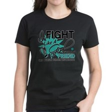 Fight Like a Girl For My Ovarian Cancer Tee