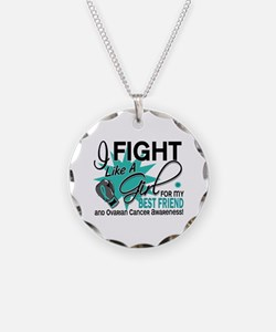 Fight Like a Girl For My Ovarian Cancer Necklace