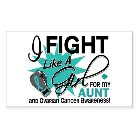 Fight Like a Girl For My Ovarian Cancer Sticker (R