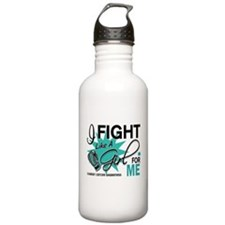 Fight Like a Girl For My Ovarian Cancer Water Bottle