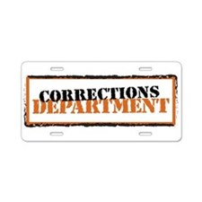 Corrections Department Aluminum License Plate