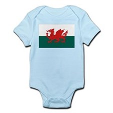 Welsh Flag Infant Creeper