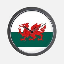 Welsh Flag Wall Clock
