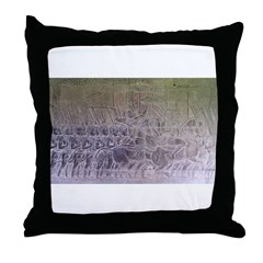 Marching Khmer Soldiers Throw Pillow