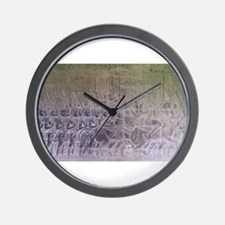Marching Khmer Soldiers Wall Clock