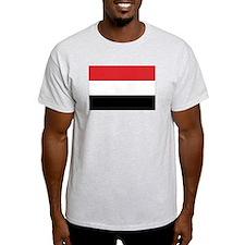 Yemen Flag Ash Grey T-Shirt