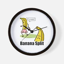 Banana split funny Wall Clock