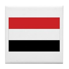 Yemen Flag Tile Coaster
