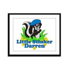 Little Stinker Darren Framed Panel Print