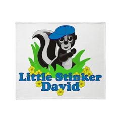 Little Stinker David Throw Blanket
