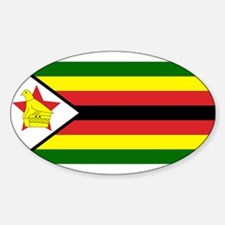 Flag of Zimbabwe Oval Decal