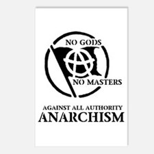 Anarcho No Gods No Master Postcards (Package of 8)