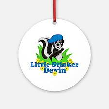 Little Stinker Devin Ornament (Round)