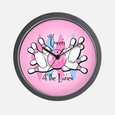 Queen of the Lanes Wall Clock