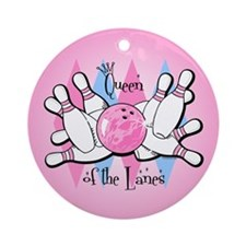 Queen of the Lanes Ornament (Round)