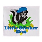 Little Stinker Don Throw Blanket