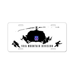 10th MOUNTAIN DIVISION Aluminum License Plate