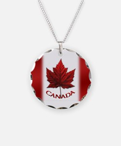 Canada Flag Souvenir Necklace