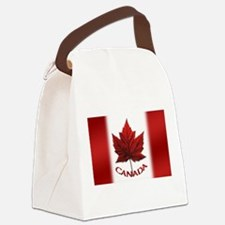 Canada Flag Souvenir Canvas Lunch Bag