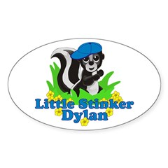 Little Stinker Dylan Sticker (Oval 10 pk)