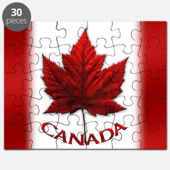 Canada Flag Souvenir Puzzle