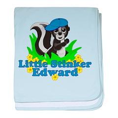 Little Stinker Edward baby blanket