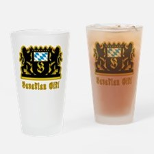 Bavarian Girl Oktoberfest Drinking Glass