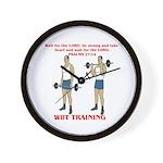 W8T Training Wall Clock