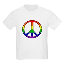 Rainbow Peace Sign Kids T-Shirt