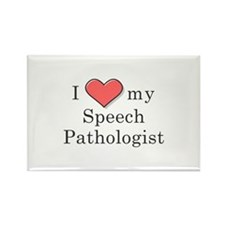 I Love my speech pathologist Rectangle Magnet
