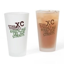 XC Keeps off Streets Drinking Glass