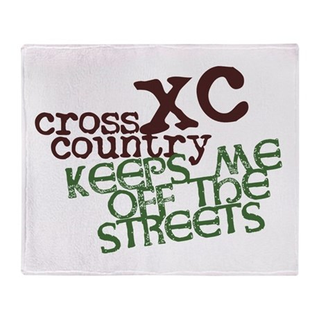 XC Keeps off Streets © Throw Blanket
