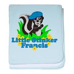 Little Stinker Francis baby blanket
