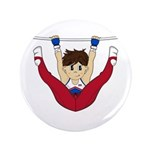 "Cute Gymnast 3.5"" Button (100 Pk)"