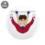 "Cute Gymnast 3.5"" Button (10 Pk)"