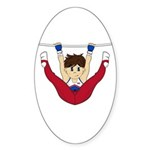 Cute Gymnast Sticker (50 Pk)