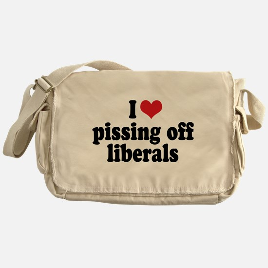Anti-liberal I heart Messenger Bag
