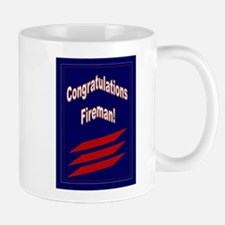 Congrats Fireman Promotion Mug