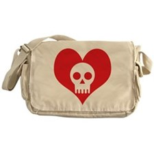 Heart and Skull Messenger Bag