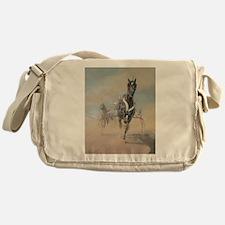 Cute Harness horses Messenger Bag