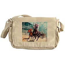 Cute Horse racing Messenger Bag