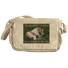 Sleeping foal Messenger Bag
