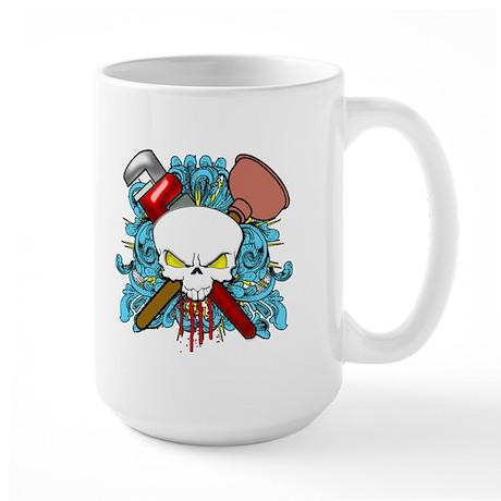 Plumber Skull Large Mug