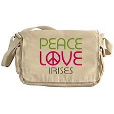 Peace Love Irises Messenger Bag