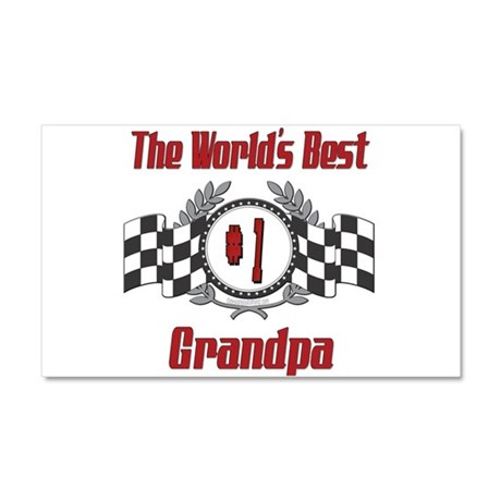Racing Grandpa Car Magnet 20 x 12